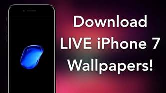 live iphone how to get iphone 7 live wallpapers on ios 10