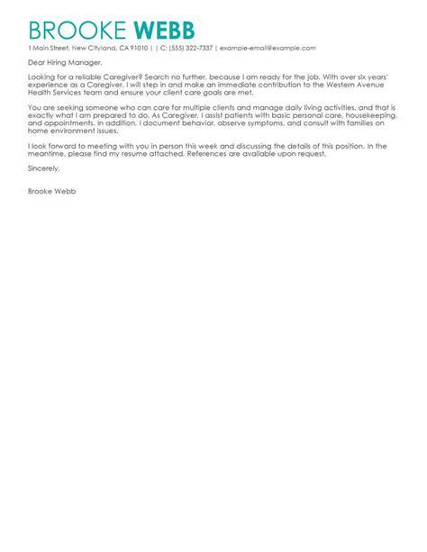 live careers cover letter caregiver docoments ojazlink