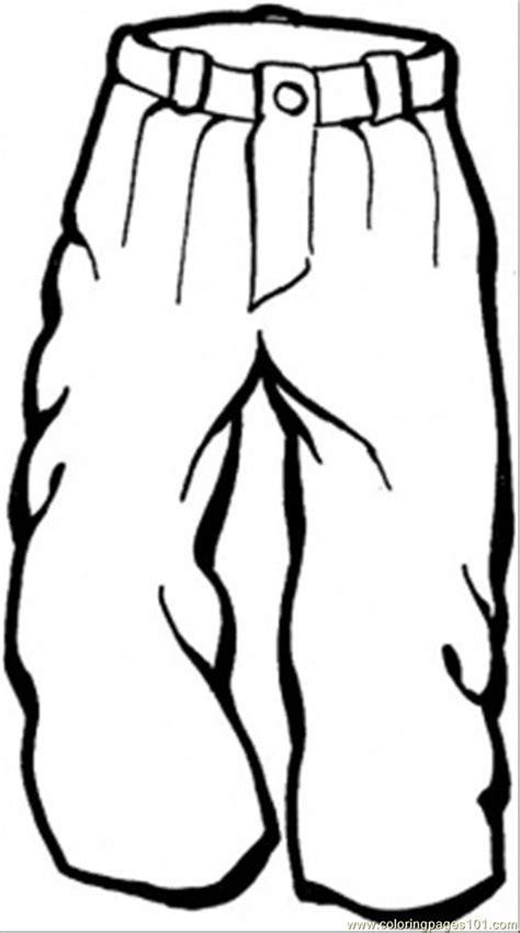 Kleurplaat Korte Broek by Trousers Coloring Page T 233 L Winter