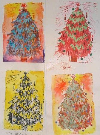 elementary school christmas tree crafts printed trees elementary