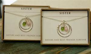 sister jewelry birthstone necklace for sister wedding gift With wedding gifts for best friend