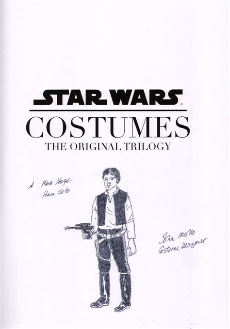 john mollo original sketch signed costume art  star wars
