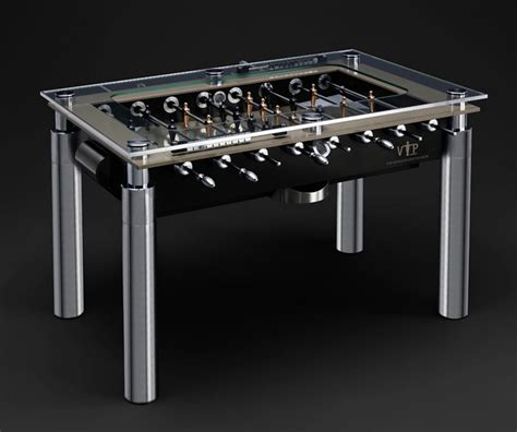 foosball table with glass top vip kicker foosball table the awesomer