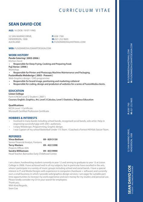 my cv resume by thatniqqasean on deviantart