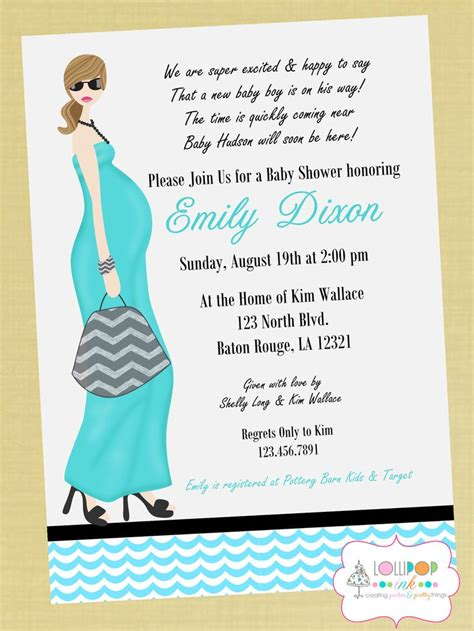 simple design baby shower invitations wording