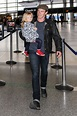 Stephen Moyer at the airport with his daughter Poppy ...