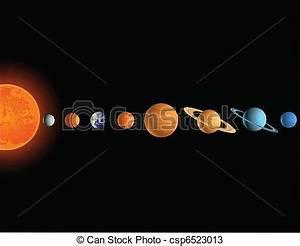Vectors of Solar system csp6523013 - Search Clip Art ...
