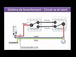 Cabler Un Va Et Vient : sch mas pour brancher un va et vient avec 2 interrupteurs youtube ~ Voncanada.com Idées de Décoration