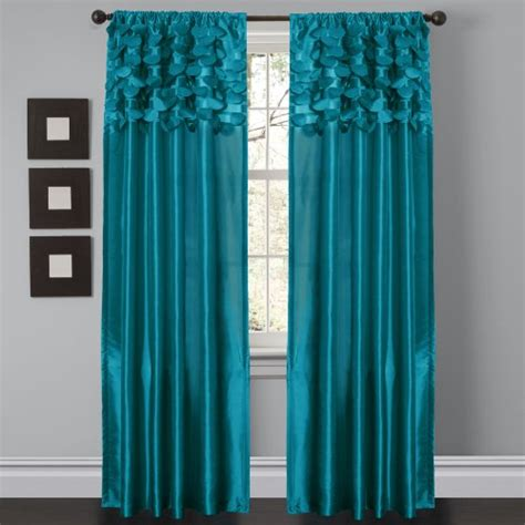 Lush Decor Window Curtains by Lush Decor Circle Window Curtain Panels Turquoise