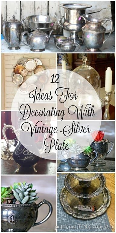 silver plate repurpose ideas including  latest project