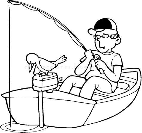 Coloring Pages Of A Fishing Boat by Boat Coloring Pages