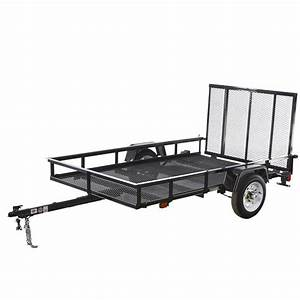 Shop Carry-On Trailer 5-ft x 8-ft Wire Mesh Utility