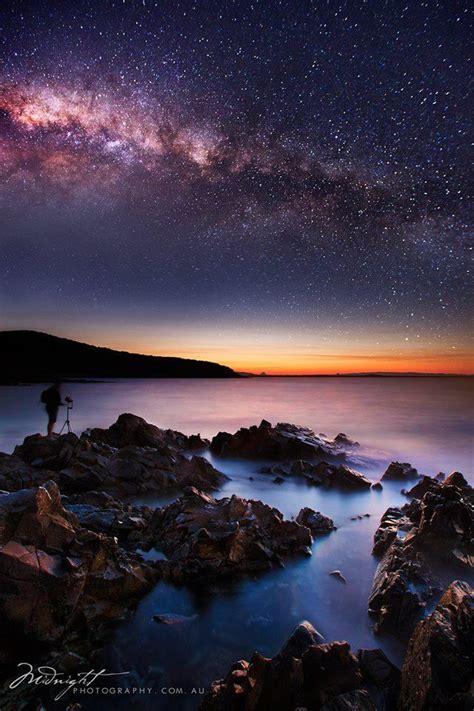 Milky Way Rising Over Noosa National Park Australia