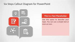 Free Six Steps Callout Diagram For Powerpoint