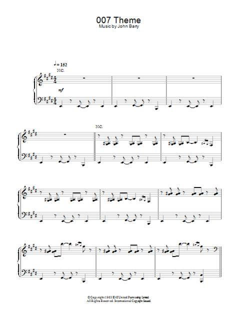 007 theme sheet music direct