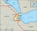 Djibouti Africa Location Map