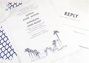 Manhattan beach skyline wedding invitations for Wedding invitations manhattan beach