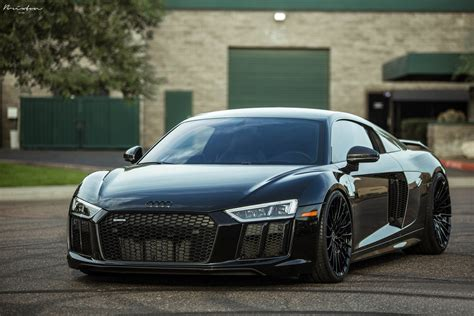 stealthy takes over black audi r8 with custom parts carid com gallery