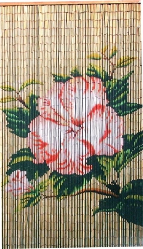 Bamboo Beaded Door Curtains Nz by Bamboo Beaded Door Curtain Pink Hibiscus Flower Other