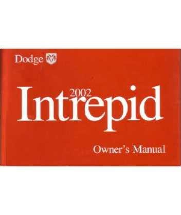 free car repair manuals 2002 dodge intrepid navigation system 2002 dodge intrepid owners manual