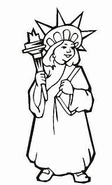 Liberty Statue Coloring Pages Printable Drawing Outline July 4th Lady Independence Torch Print York Clipartmag Fourth Getcoloringpages Ellis Island Flag sketch template