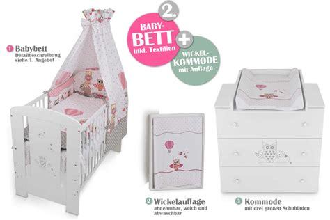 babyzimmer eule rosa babybett kinderbett wickelkommode