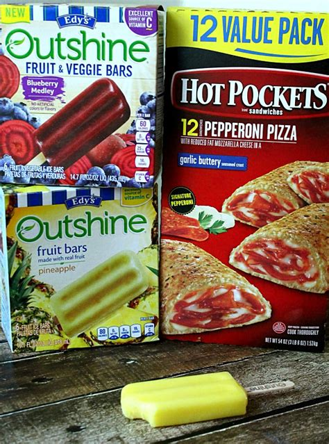 easy summer snacks  hot pockets  outshine