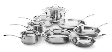calphalon tri ply stainless premier cookware set  piece calphalon cookware cookware set