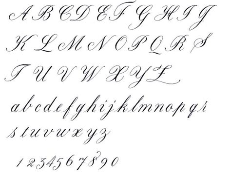 Calligraphy Alphabet  Cursive Calligraphy Alphabet