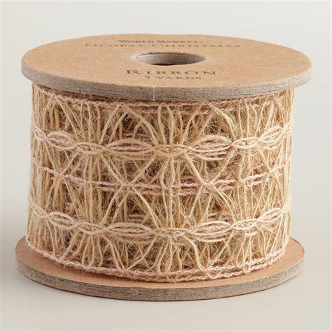 open weave burlap ribbon world market