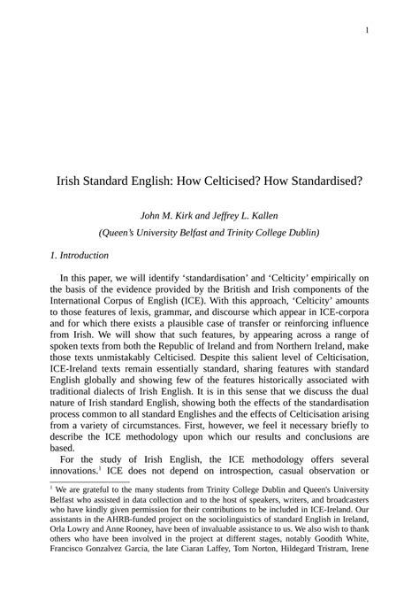(PDF) Irish standard English : how celticised?; how