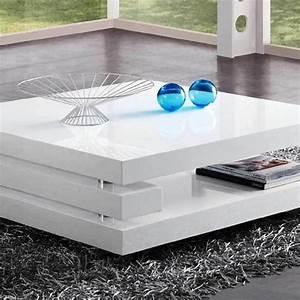 Table Salon Blanc Laqué : meuble table basse laqu ultra moderne kara ~ Teatrodelosmanantiales.com Idées de Décoration