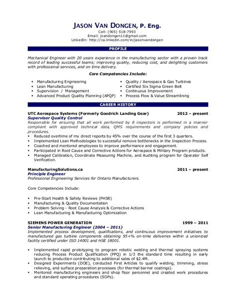 Lean Manufacturing Resume Exles by Lean Six Sigma Resume Exles Resume Format 2017