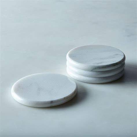 Round Vermont Marble Coasters (Set of 4) on Food52