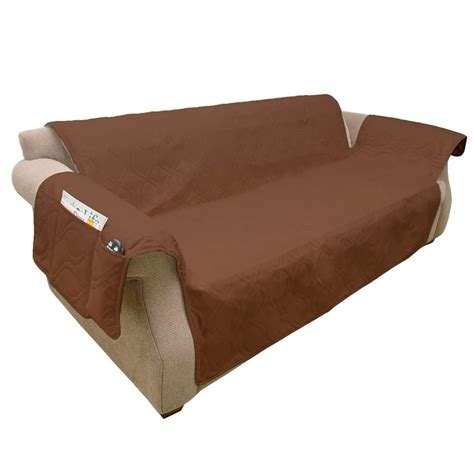 petmaker non slip brown waterproof sofa slipcover m320127 the home depot - Non Slip Sofa Covers