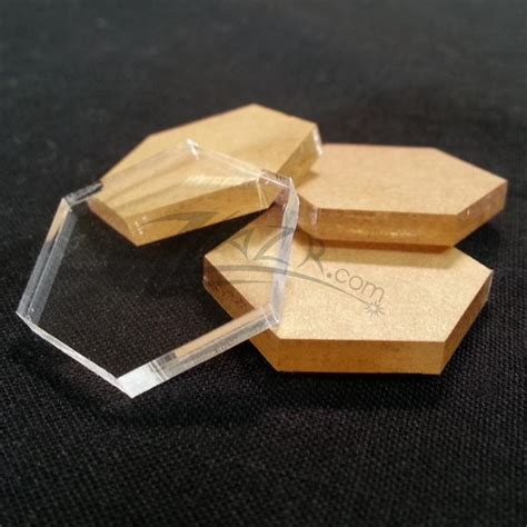 clear acrylic hexagons disc plastic