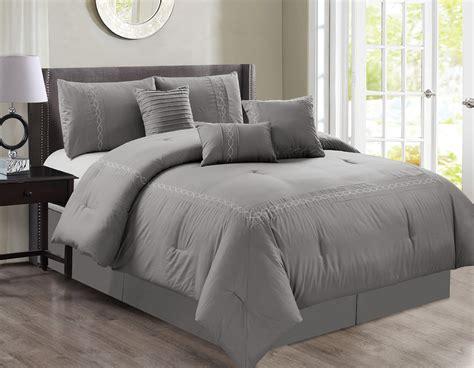 7 Peace Zamella Gray Comforter Set