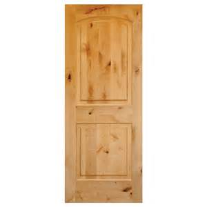 home depot solid interior door krosswood doors 30 in x 80 in rustic knotty alder 2 panel top rail arch solid wood left