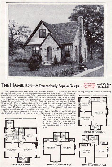 aladdin kit homes catalog  hamilton wwii era house  home advertising  hamilton