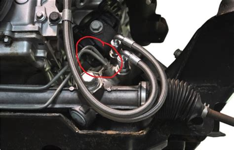 replace metal power steering lines  steel braided
