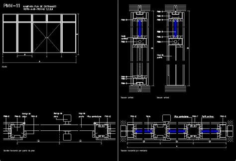 aluminium screens detail  dwg detail  autocad designs cad