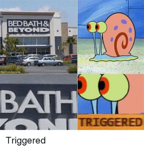 Bed Bath And Bey by Bed Bath Bey On D Triggered Triggered Spongebob Meme On