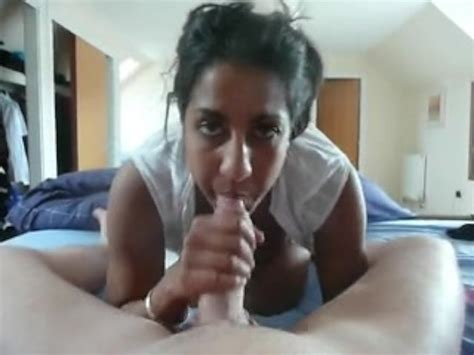 Indian Girl Sucking A Nice Thick White Cock Free Porn