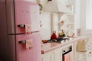 Küchen Vintage Style : k hlschrank retro rosa ~ Sanjose-hotels-ca.com Haus und Dekorationen