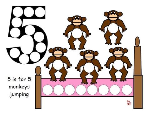 5 Little Monkeys Do-a-dot