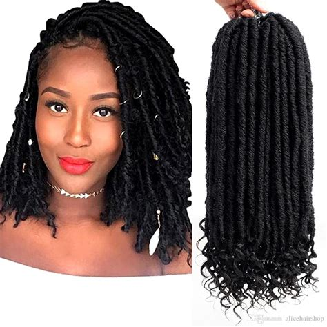 6packs 14 Short Goddess Faux Locs With Curly Nu Locs