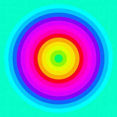 Ello Rainbow Illusion Optical Illusions Neon Colors