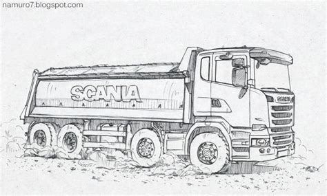 draw scania euro  dump truck wood art dump trucks drawings cars coloring pages