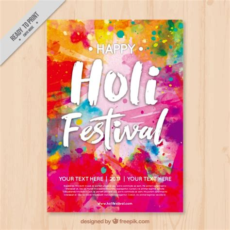 Colorful Flyer Psd Template Free Download colorful holi flyer template vector free download