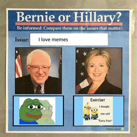 Bernie Dank Memes - bernie hillary pepe meme laughing gives you endorphins pinterest smosh sweet corn and
